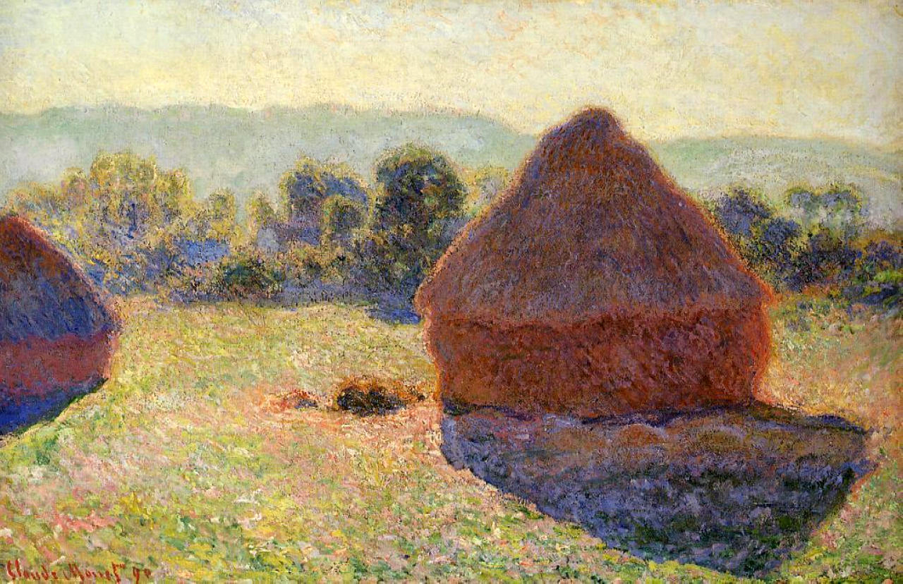 Monet, Grain Stacks in the Sunlight