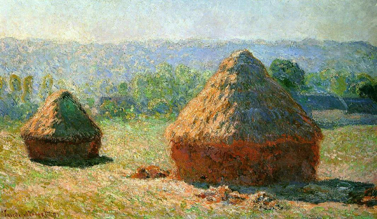 Monet, Grain Stacks at the end of summer morning