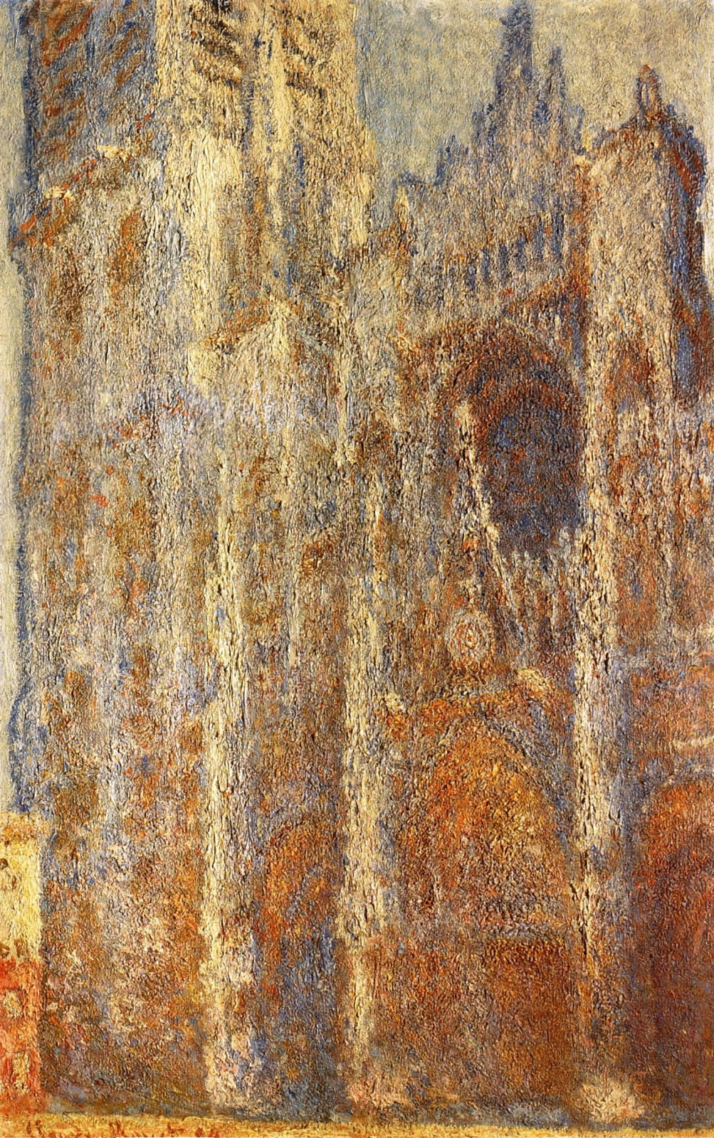 Monet, Rouen Cathedral at noon