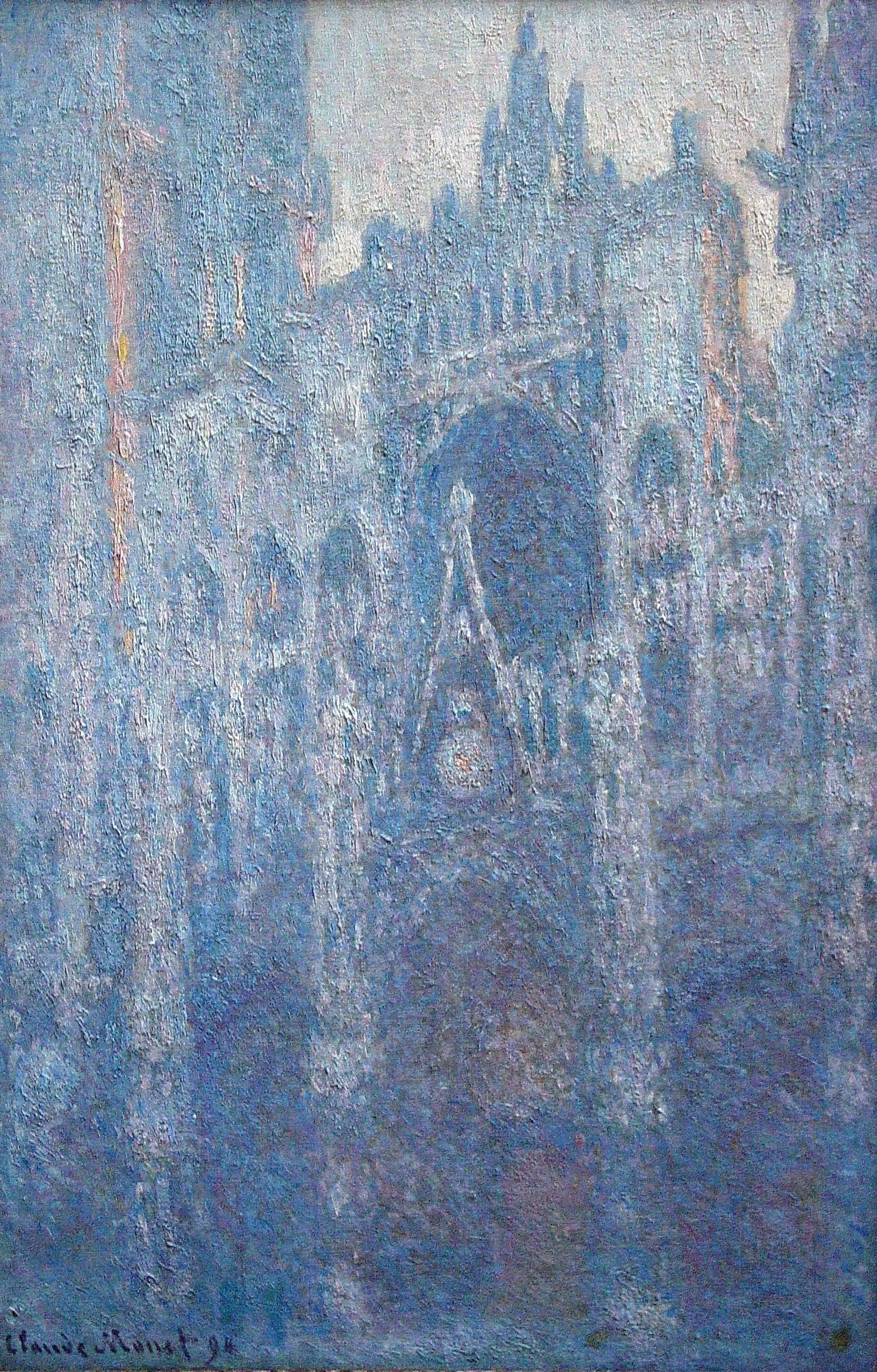 Monet, Rouen Cathedral clear day