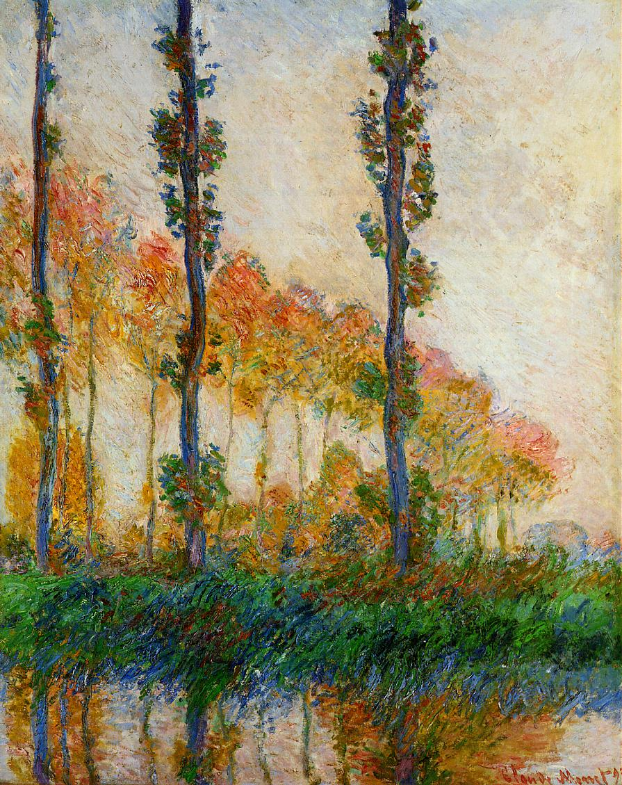 Monet, Three trees in autumn